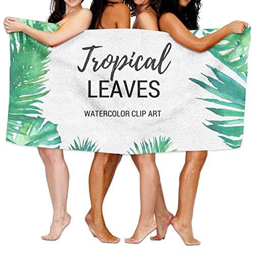 Party Socks, Tropische Blätter, Strandtücher, sehr saugfähig, Mikrofaser, Badetuch, Picknick-Matte für Männer und Frauen - Frontgate-matte