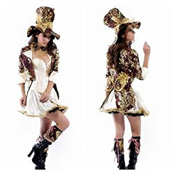 New Deluxe Mad Hatter Tea Part Alice In Wonderland Fancy Dress Costume Set (X-Large)