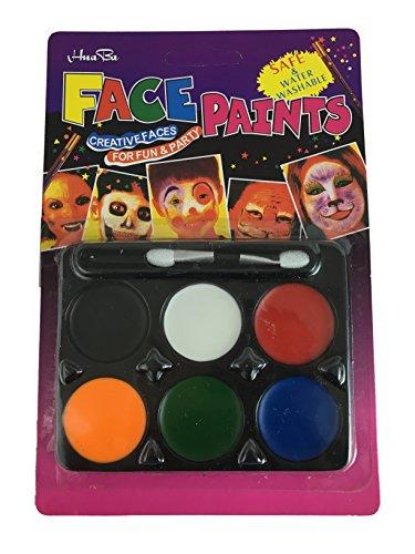 Halloween Party Gesicht Farben 6Wasser Farbe Body Painting waschbar Pinsel (1020 Kostüme)
