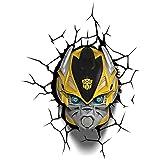 3D Light FX - Lámpara LED Transformers Bumble Bee, de plástico, multicolor, 23 x 15 x 31 cm, cód. 3Dfx-84053
