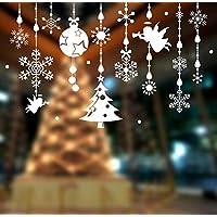 Tongshi Navidad tienda ventana decoración de pared pegatinas Navidad copos de nieve ciudad