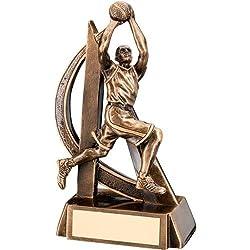 Macho diseño de trofeo–Curva de baloncesto, 7 pulgadas
