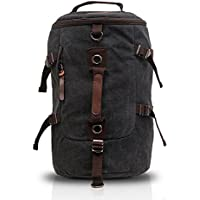 FANDARE Men s Canvas Retro Mountaineering Backpack Weekend Overnight  Outdoor Hiking Climbing Camping Sports Gym Travel Duffel e84b7040c1fbe