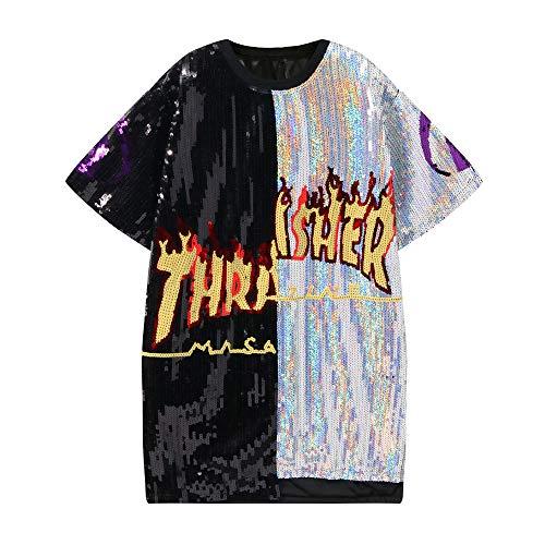 unbrand Jungen Pailletten Tanzsport Tank Tops Herren Dance Wear Kostüm Teens Modern Jazz Hip-Hop Dancewear Pailletten - Teen Dance Kostüm