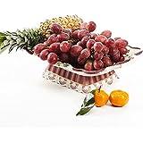 Alto cerámica cuadrado Frutero/ Frutero/ fruta/ Frutero de relieve rosas