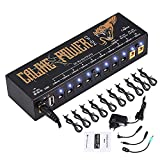 Caline® Guitar Pedal Power Supply 10 Isolated DC Outputs for 9V/12V/18V Guitar Bass