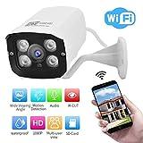 1080P Videocamera di Sorveglianza Telecamera WiFi, telefono cellulare impermeabile esterno Telecamera di sicurezza domestica remota Telecamera di sorveglianza domestica(EU)