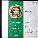 1 Disque Vinyle LP 33 Tours - Philips 01.459 - Hommage à Joseph Szigeti - Beethoven : Concerto pour Violon et Orchestre en ré majeur, op.61, 1er, 2e, 3e mouvements - Joseph Szigeti (Violon) - Orchestre Philharmonique de New York, Direction : Bruno Walter - (1 Disque vinyle 33t LP).
