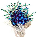 Flower Co Hand Bunch Bouquet (Blue)