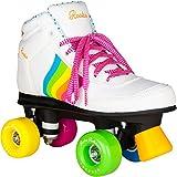 Rookie Forever Rainbow V2Rollschuhe mit 4Rollen, Unisex, für Kinder 34 Weiß/mehrfarbig
