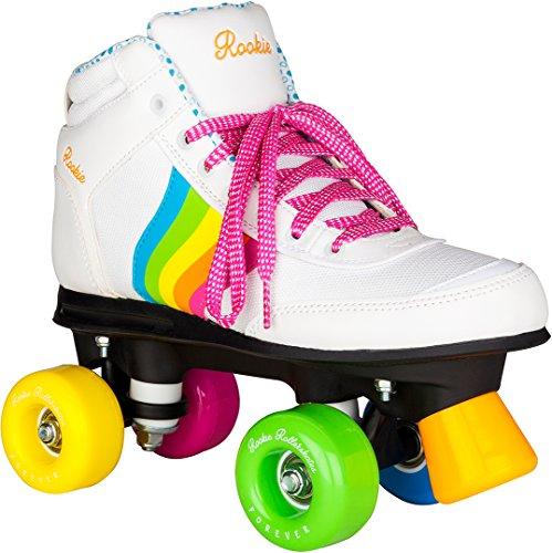 Rookie Forever Rainbow V2Rollschuhe mit 4Rollen, Unisex, für Kinder 38 Weiß/Mehrfarbig