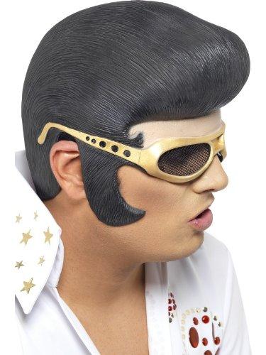 Smiffys Elvis Perücke mit Brille aus Latex