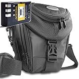 KIT Mantona Colttasche Colt Kameratasche schwarz + PATONA Akku für Nikon EN-EL9 zu Nikon D5000 D3000 D40x D40 D60