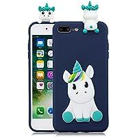 50c0d627c3c HopMore Funda iPhone 8 Plus Silicona Motivo 3D Divertidas TPU Gel One Piece  Kawaii Ultrafina Slim