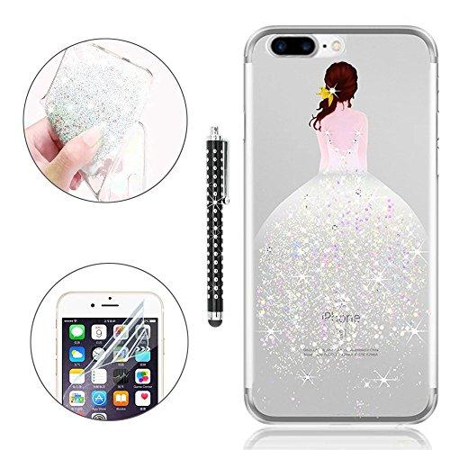 iPhone 7 Plus Cover (5.5), Bonice Iphone 7 Plus Custodia, Ultra Slim Thin Morbido TPU Clear Trasparente Animale Cat Case model 04