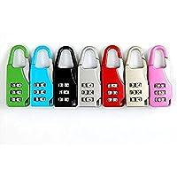 Zinc Alloy Mini Password Lock 3-Digit Gym Locker Door Lock Suitcase Padlock Random Color
