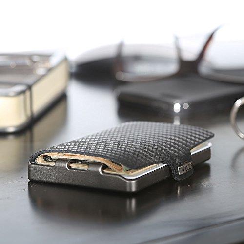 I clip nero carbon portafoglio con clip porta banconote - Porta tessere e banconote ...