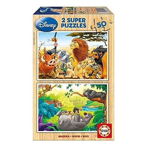 Educa - 13144 - Puzzle Bois Wd 2X50 pièces -