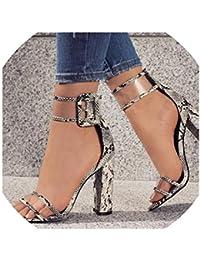 Sandalias de tacón Alto con Hebilla para Mujer, Zapatos Transparentes para Verano, Punta Abierta