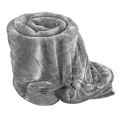 Comfy Nights Soft Luxury Fake Faux Fur Mink Throw Sofa Bed Blanket - low-cost UK light shop.