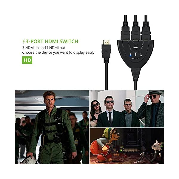 YCTC-3-Port-HDMI-Commutateur-3-x-1-HDMI-Switch-Splitter-Soutiens-1080p-HDCP-3D-Dolby-True-HD-Audio-pour-Samsung-TVBlu-RayChromecastAndriod-TV-BoxHD-DVDXbox-360PS-4-3-Entres-1-Sortiet
