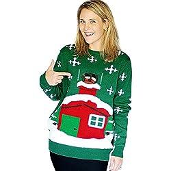 Digital Dudz, Morph Costume Co, Suéter de Navidad, color Verde, talla Small