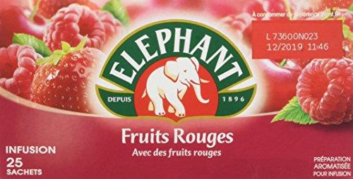 Elephant Infusion Fruits Rouges 25 sachets - Lot de 4