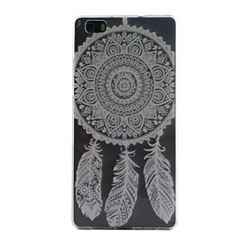Voguecase® Pour Apple iPhone 5C, Ultra-minces TPU Silicone Shell Housse Coque Étui Case Cover (plume grise)+ Gratuit stylet l'écran aléatoire universelle dentelle Plume