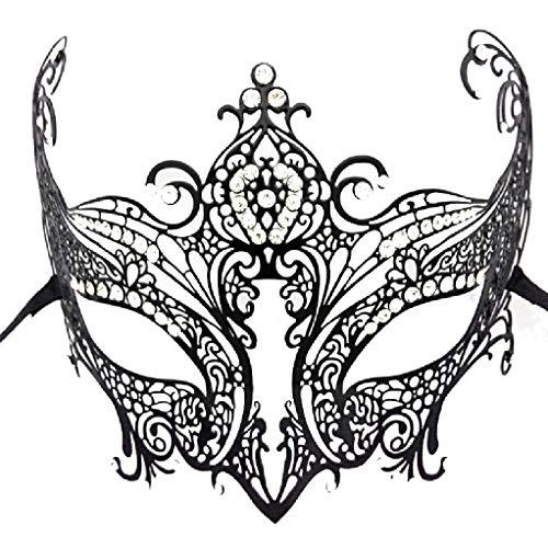 ZHOUYANCHalloween Metall-besetzte EIN?ugige Maske weibliche Maske verkleiden Sich halbes Gesicht Prinzessin Maske (Iron Man Verkleiden)