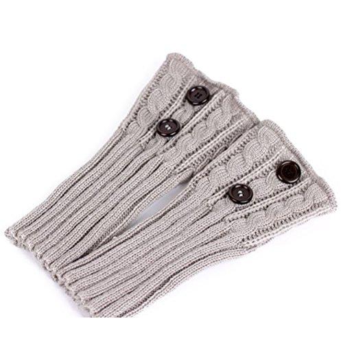 PIXNOR Puños de pata arranque tejer calcetines calentadores arranque cubierta mantenga caliente...