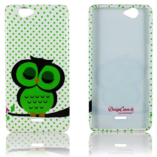 thematys Passend für Wiko Getaway Schutzhülle Silikon Süße Eule weiche Tasche Cover Case Bumper Etui Flip Smartphone Handy Backcover