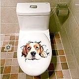 LAAAX Stickers Muraux Autocollants Muraux Autocollant 3D Pour Couvercles De Toilettes Pvc Autocollants Animaux Sur Le Siège Des Toilettes