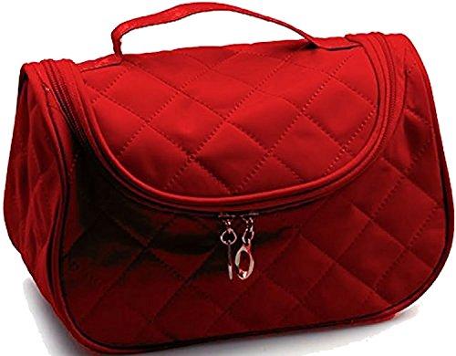Kosmetik Zipper Große Tasche (KOSMETIK-TASCHE mit großer Zipper-Öffnung ~~ROT~~ Auch als Aufbewahrung von Naildesign-Zubehör geeignet)