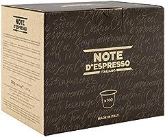 Note d'Espresso - Lot de 100 capsules de café exclusivement compatibles  avec machine Nespresso*, 100x5,6g