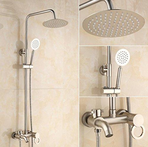 Preisvergleich Produktbild BLYC- Solide Messing Wandhalterung Badezimmer Luxus-Regen-Mixer Dusche kombiniert Wasser sparende Bad-Duschsystem mit ultra-flexible Edelstahl-Schlauch
