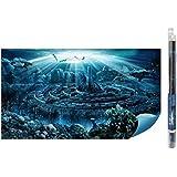 Hydor H2shOw Atlantis Background-Fondo para acuarios completo de gel para la aplicación, por el relieve