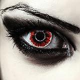 Designlenses Rosse Lenti a Contatto Colorate Rosso griglia per Halloween Vampiro Costume, morbide, Non corrette Modello: Vukodlak