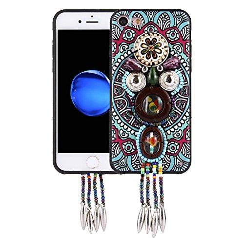 Wkae Retro ethnische Art-Abziehbilder schützender rückseitiger Abdeckungs-Fall für iPhone 7 ( SKU : Ip7g0416f ) Ip7g0416d