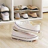 Schuhregal, H. Eternal Einfache Fashion Metall Schuhregal platzsparend Display Rack Schuhe Organizer, weiß, 26*13.3*10.7cm