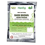 Dark Brown Henna Hair Color – 100% Organic and Chemical Free Henna for Hair Color Hair Care - ( 60 Gram = 1 Packet) Amazon