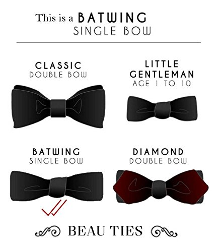 Beau Ties Men's Satin Pre-Tied Tuxedo Suit Bow Tie (Blue, Free Size)