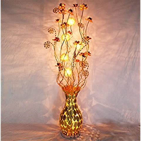 Universale Illuminazione e Decor Torchiere lampada da terra con 7-Luci, alluminio
