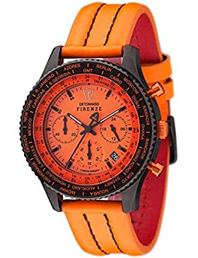 DETOMASO Herren-Armbanduhr Detomaso Firenze Chronograph Quarz SL1624C-OR