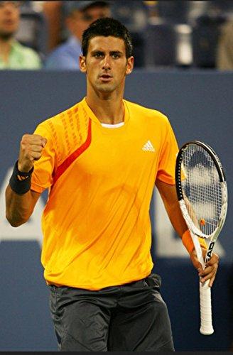 Adidas Novak Djokovic 2009US Open Edge Limited Edition Tennis Top T-Shirt, Orange, Medium (Adidas Herren-edge-top)