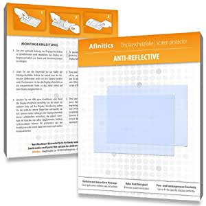 3 x Afinitics Anti-Reflective Screen Protector for Canon Powershot A2500 / A-2500 - PREMIUM QUALITY (non-reflecting, hard-coated, bubble free application)