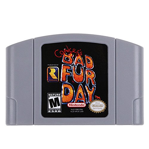 für Nintendo 64 N64 Mario Smash Bros Zelda Video Game Cartridge Console Card 64 Bit Games English Language US Version (Conker's Bad Fur Day) - Quarks