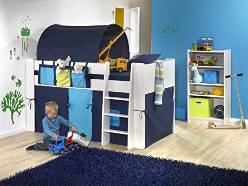 Tunnel Per Letto A Castello.Steens Furniture Tenda A Tunnel Per Letto A Castello Bambini Blu