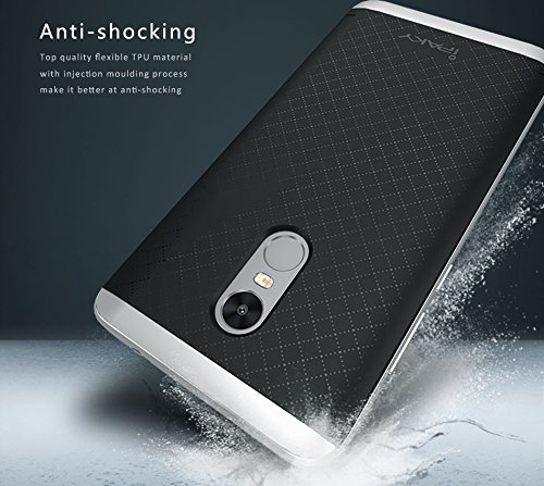 finest selection 57aef 19ace Tingtong iPaky Premium TPU+PC Hybird Armor Protective Back Bumper Case  Cover for Indian Xiaomi Mi Redmi Note 4 (Silver) (Perfect Cutouts as per  the ...