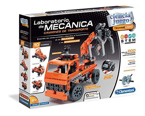 Clementoni Juego Laboratorio De Mecánica Camiones De Transporte, Multicolor (552504)