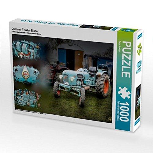Preisvergleich Produktbild CALVENDO Puzzle Oldtimer Traktor Eicher 1000 Teile Lege-Größe 64 x 48 cm Foto-Puzzle Bild von Peter Roder (CALVENDO Technologie)